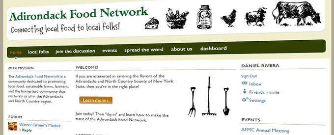 Adirondack-Food-Network-website